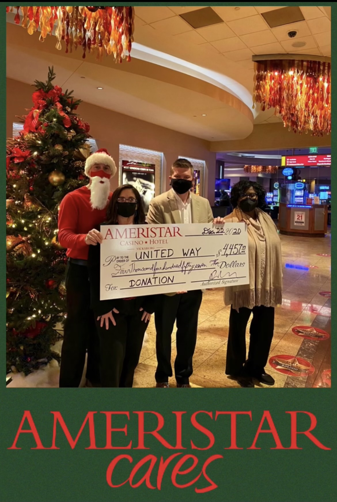Ameristar Cares awarded United Way with a special donation.